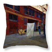 Painting The Photographer Throw Pillow