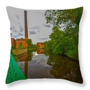 Painting The River Throw Pillow