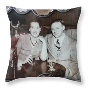 Painting The Town Throw Pillow