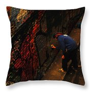 Painting Walls Throw Pillow