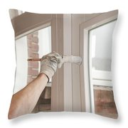 Painting Wood Throw Pillow