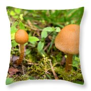 Pair O Mushrooms Throw Pillow