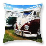 Pair Of Busses Throw Pillow