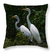 Pair Of Herons Throw Pillow