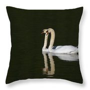 Pair Of Mute Swans Throw Pillow