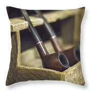 Pair Of Pipes Throw Pillow