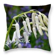 Pair Of White Bluebells Throw Pillow