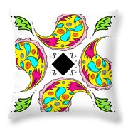 Paisley Flower Abstract Viii Throw Pillow