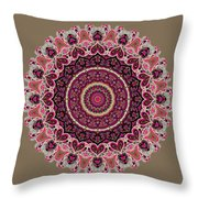 Paisley Hearts Throw Pillow