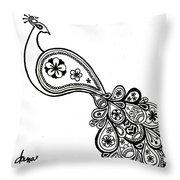 Paisley Peacock Throw Pillow