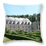 Palace And Garden Bussy Rabutin - Burgundy Throw Pillow