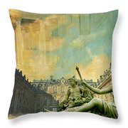 Palace And Park Of Versailles Unesco World Heritage Site Throw Pillow by Catf