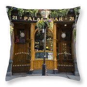 Palace Bar - Dublin Ireland Throw Pillow