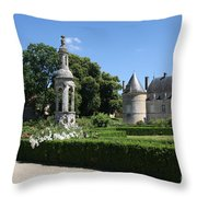 Palace Bussy Rabutin And Garden Throw Pillow