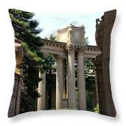 Palace Fine Arts Pillars And Urn Throw Pillow