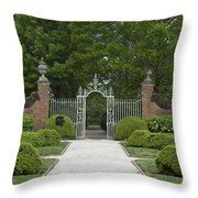 Palace Garden Gate Throw Pillow