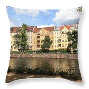 Palace Garden View Throw Pillow