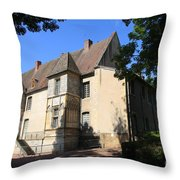 Palace Of Abbot Jacques D'amboise Throw Pillow
