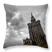 Palace Of Culture And Science In Warsaw Throw Pillow
