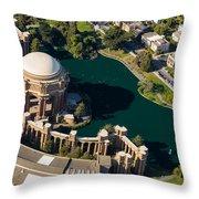 Palace Of Fine Arts Aloft Throw Pillow