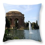 Palace Of Fine Arts And Lagoon Throw Pillow