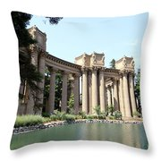 Palace Of Fine Arts Colonnades  Throw Pillow