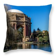Palace Of Fine Arts In Color Throw Pillow