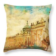 Palaces And Parks Of Potsdam And Berlin Throw Pillow by Catf