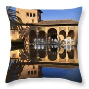 Palacio Del Partal La Alhambra Throw Pillow