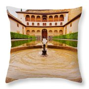 Palacios Nazaries In Granada Throw Pillow