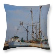 Palacios Texas Rhonda Kathleen In Port Throw Pillow