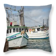 Palacios Texas Two Boats In View Throw Pillow