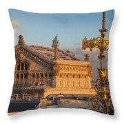Palais Garnier Throw Pillow