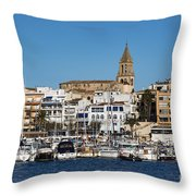 Palamos Spain Throw Pillow