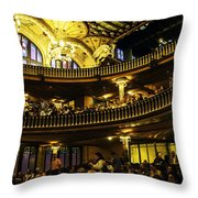 Palau De La Musica  - Barcelona - Spain Throw Pillow