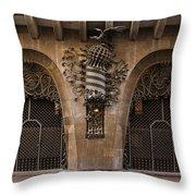 Palau Guell 1886 To 88 Gaudi Barcelona Spain Dsc01413 Throw Pillow
