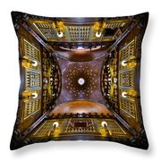Palau Guell Ceiling Throw Pillow