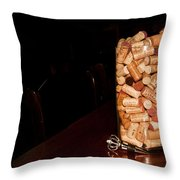 Palaver Corks Throw Pillow