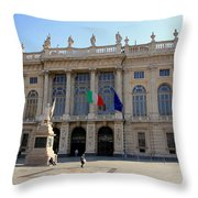 Palazzo Madama In Turin Throw Pillow