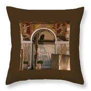 Palazzo Salviati Details Of The Facade Throw Pillow