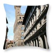 Palazzo Vecchio And Uffizien Throw Pillow