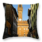 Palazzo Vecchio In Florence Italy Throw Pillow