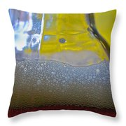 Pale Ale Suds Throw Pillow
