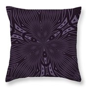 Pale Aubergine And Eggplant Abstract Pattern Kaleidoscope Throw Pillow