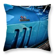 Pale Blue Rider -2 Throw Pillow