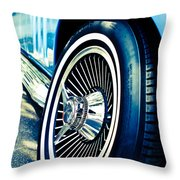 Pale Blue Rider Throw Pillow