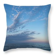 Pale Blues And Feathery Clouds In The Fading Light Throw Pillow