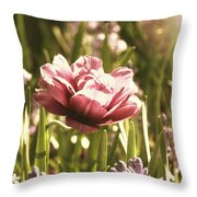 Pale Flowers Throw Pillow