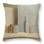 Pale Grey And Blue  Throw Pillow