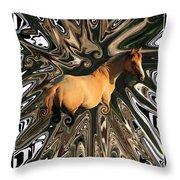 Pale Horse Throw Pillow by Aidan Moran